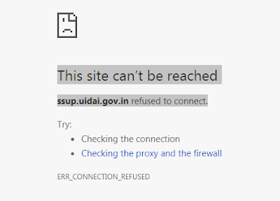 ssup.uidai.gov.in refused to connect