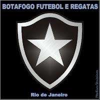 Escudo do Botafogo Futebol e Regatas do Rio de Janeiro. Chamada para os Hinos do Clube.
