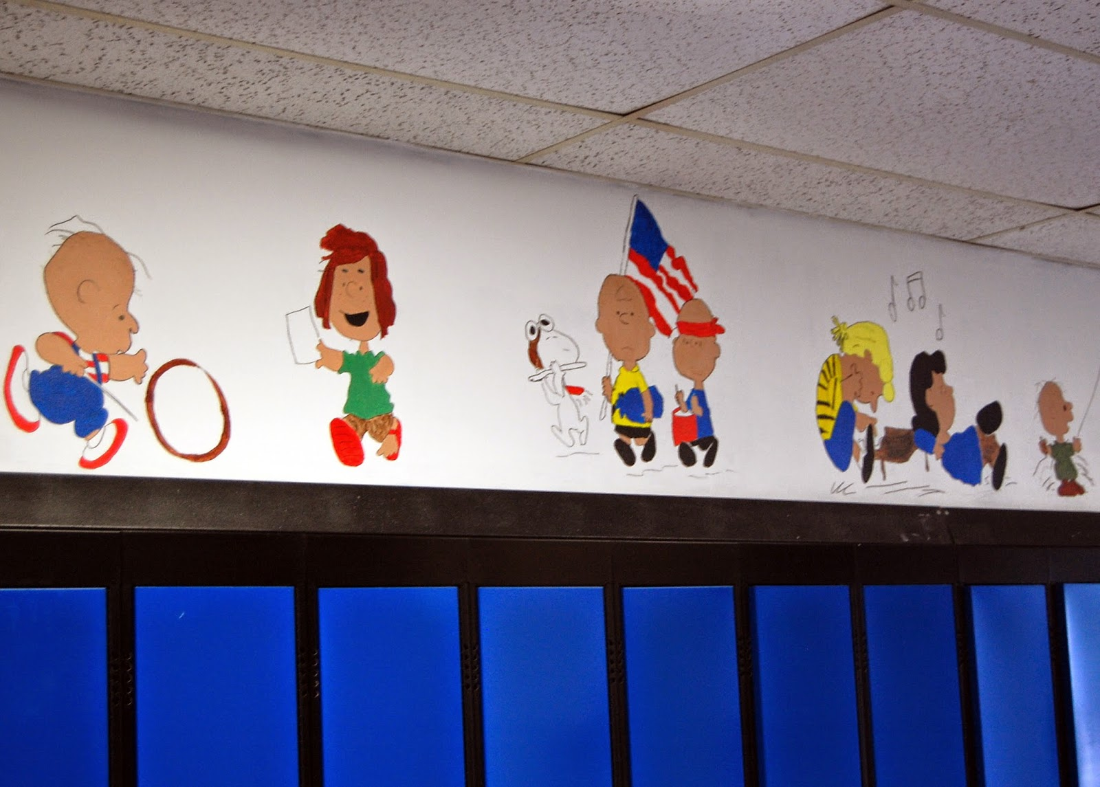 student murals above the lockers 5