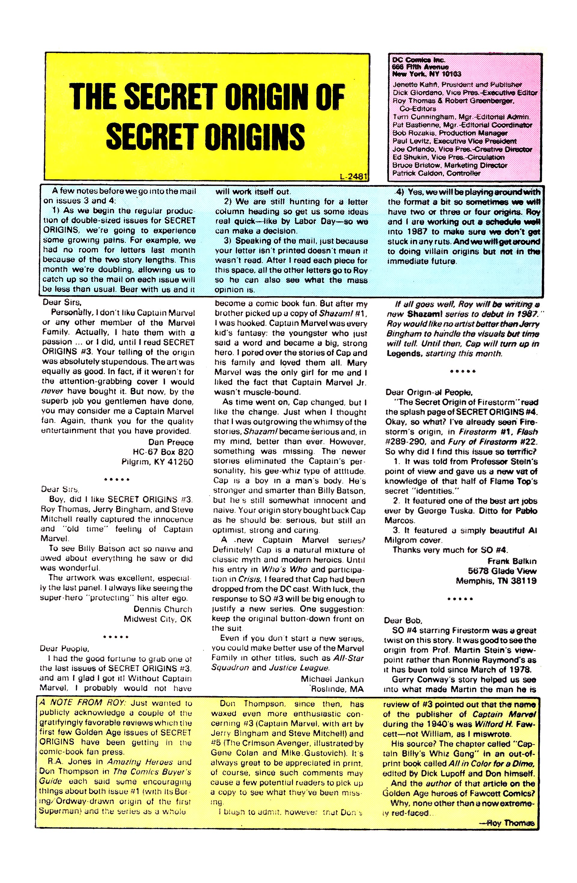 Read online Secret Origins (1986) comic -  Issue #8 - 29