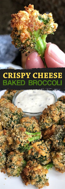 The BEST Crispy Cheese Baked Broccoli Recipe
