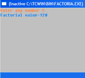 Iterative Implementation of Factorial