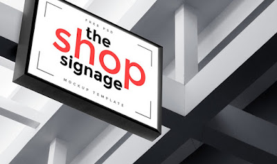 Outdoor Shop Signage PSD
