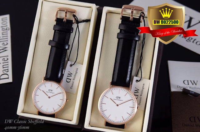 Đồng hồ cặp đôi dây da DW Đ022500