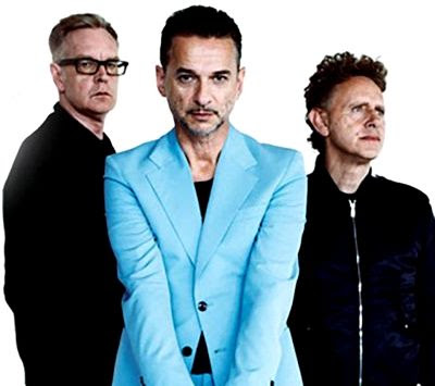 Foto de Depeche Mode posando a su estilo