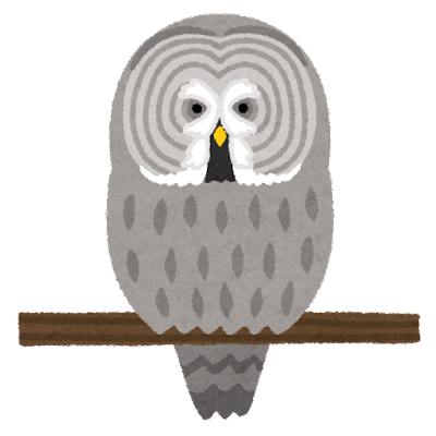 カラフトフクロウのイラスト