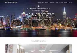 Mẫu template bất động sản chuyên nghiệp cho Blogspot