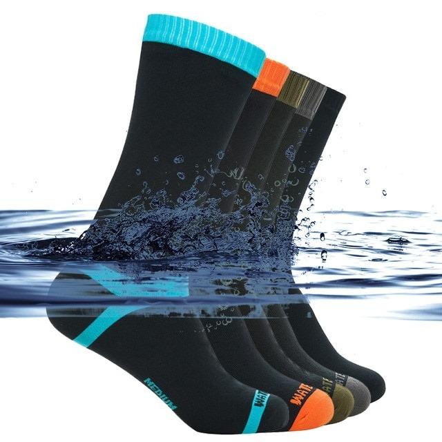 Waterproof Socks for Men and Women - Climbing Hiking Skiing Cycling Socks Outdoor Warm Breathable Fishing Skateboarding Socks