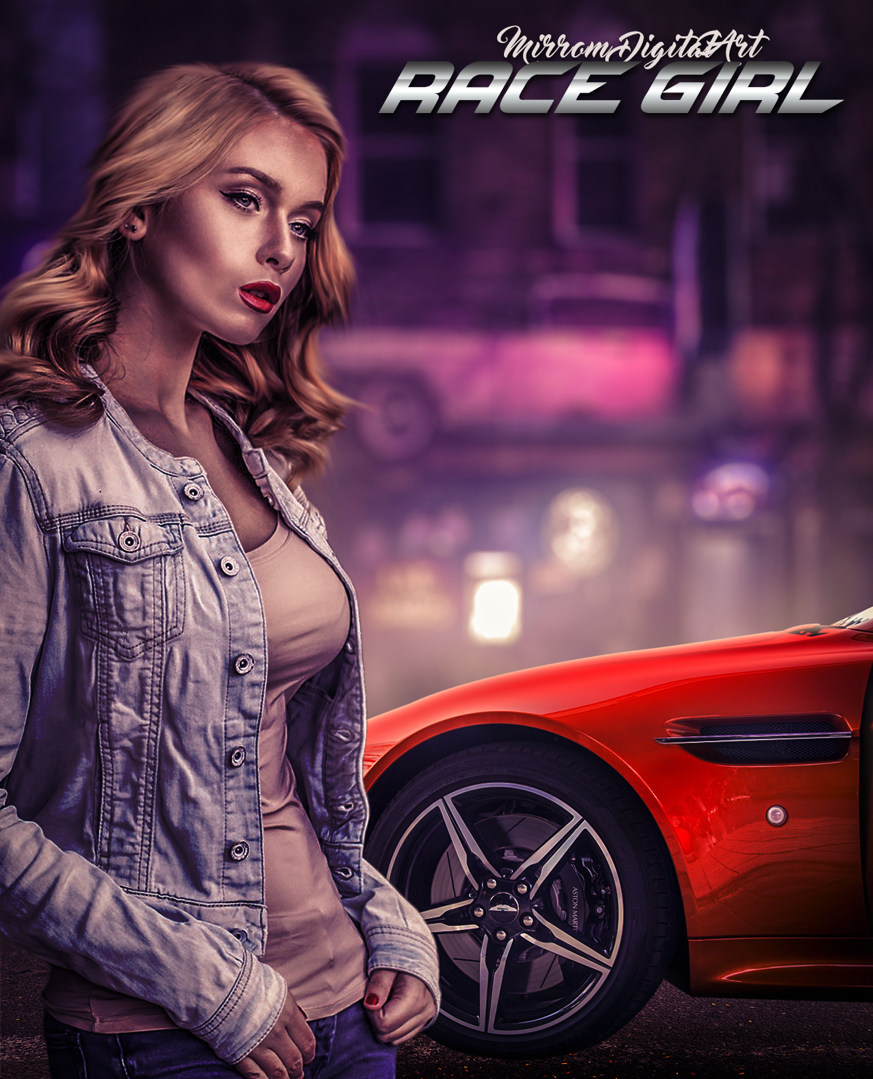 Create a Racing Game Poster Manipulation Effect In Photoshop CC