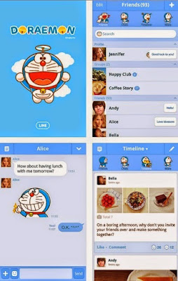Doraemon Official Tema Line Android