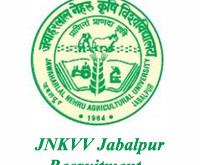 JNKVV Jabalpur Recruitment 2017, www.jnkvv.org