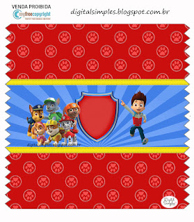 Etiquetas de Fiesta de Paw Patrol  para imprimir gratis.