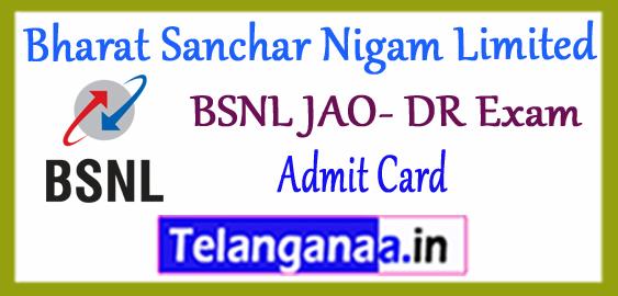 BSNL Bharat Sanchar Nigam Limited JAO -DR Admit Card 2017 Syllabus Result
