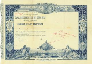 Canal Maritime Russe des Deux Mers (de Riga à Kherson) printer proof Imprimerie Richard