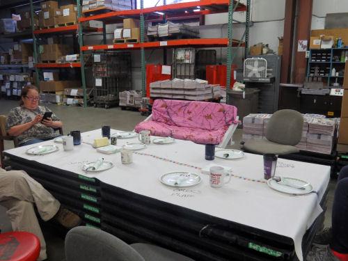 makeshift table