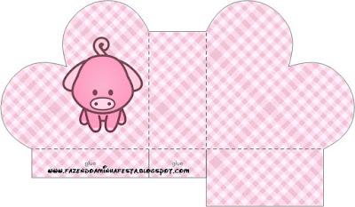Caja abierta en forma de corazón de La Granja Bebés en Rosa.