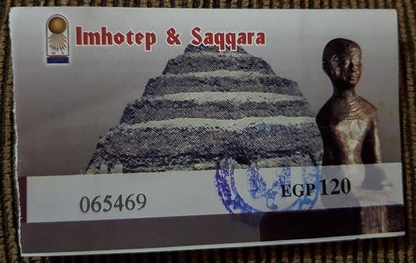Ingresso para visitar Saqqara - Diário de Bordo: 2 dias no Cairo