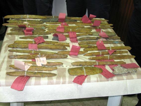 oricalco - Encuentran 39 lingotes de oricalco de hace 2600 años en el mar de Gela, al sur de la isla de Sicilia