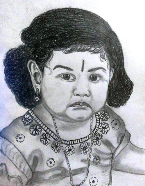 PENCIL DRAWING - CUTE BABY