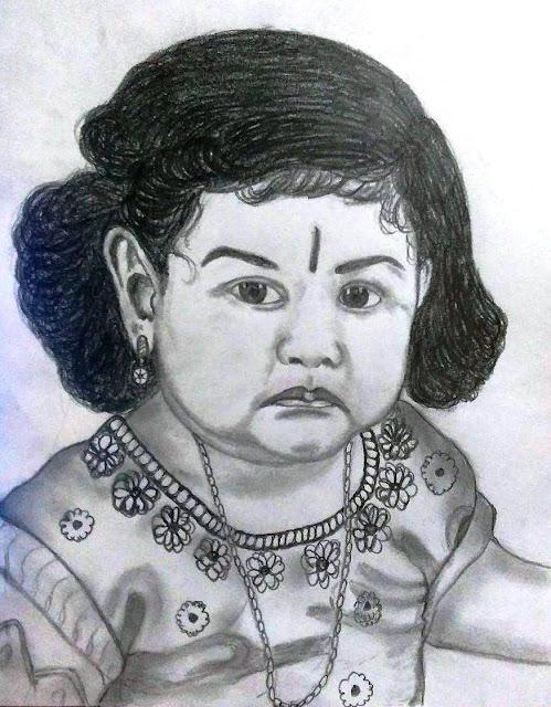 PENCIL DRAWING - CUTE BABY