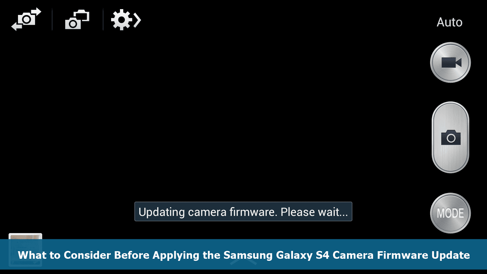 Samsung Galaxy S4 Camera Firmware Update