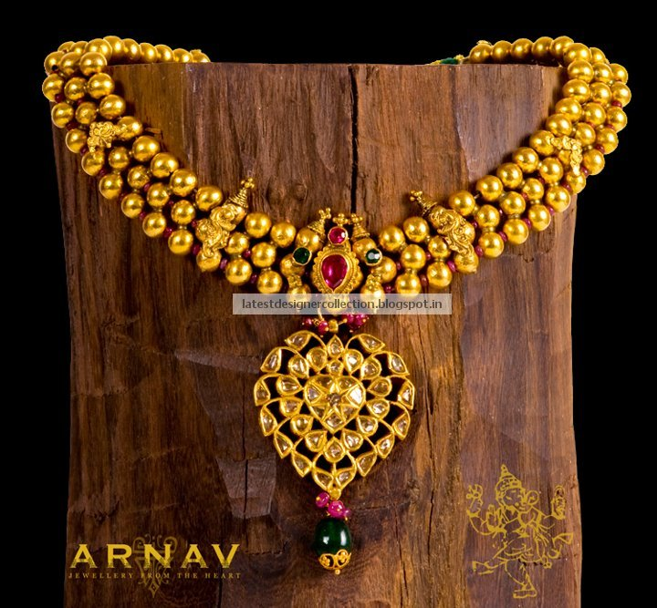Kundan Worked Flat Diamond Pendant Fused together on a Antique ...