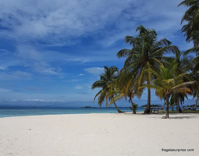 Praia em San Blás, Panamá