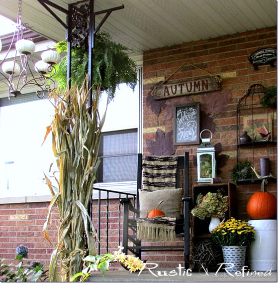 Rustic Decorating Ideas for a Porch for Fall or Autumn
