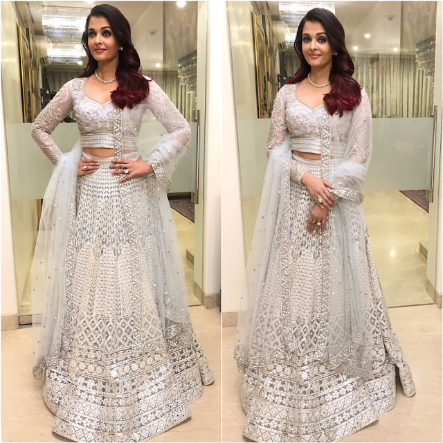 Aishwarya Rai Wears Falguni Shane Peacock at Deepveer Wedding Reception