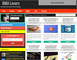 BMA Lovers Blogger Template
