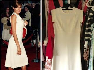 Eva Mendes w klasycznej białej sukience