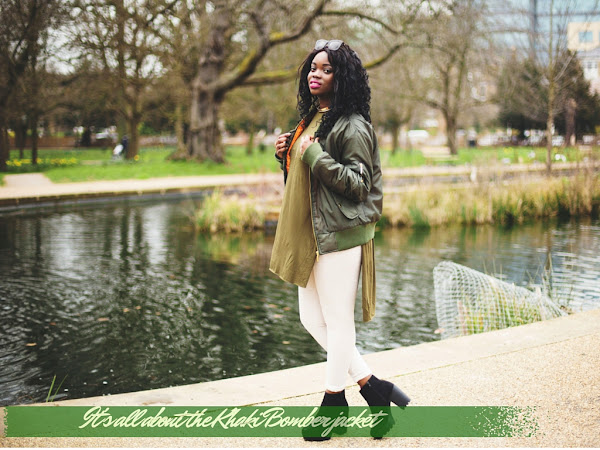 FASHION| IT IS ALL ABOUT  THE KHAKI BOMBER JACKET
