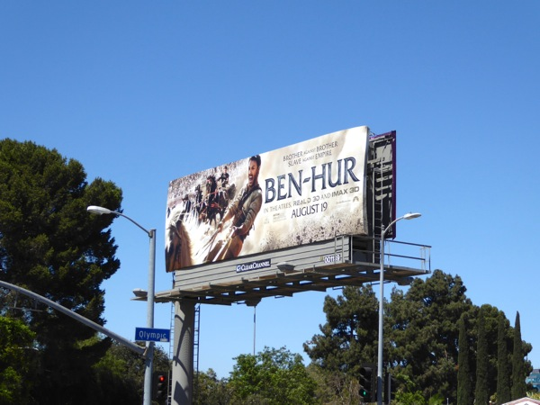 Ben Hur film remake billboard