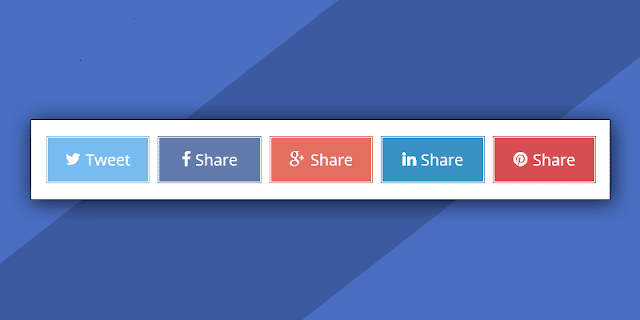 Membuat Social Share Button Responsive di Bawah Posting Blog