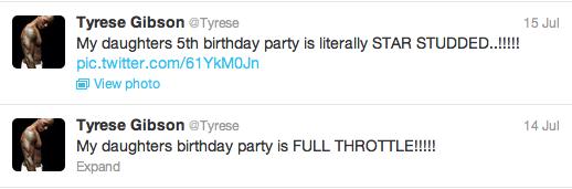 2013 Singer Tyrese Wife