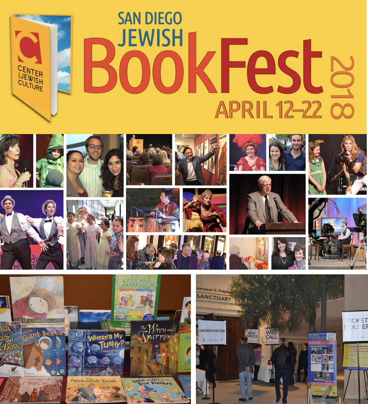 Don't Miss The San Diego Jewish Bookfest - April 12-22!