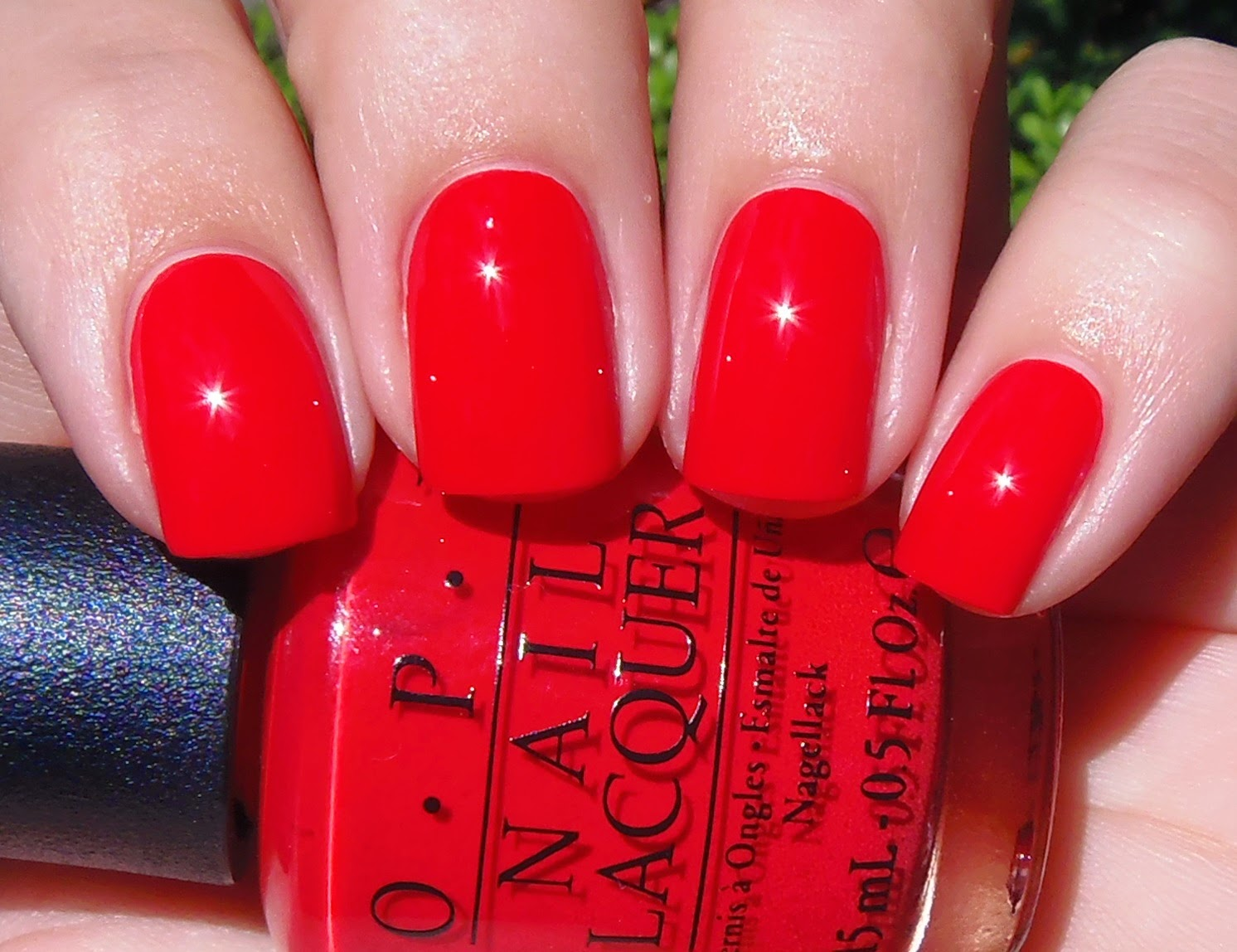 Sparkly Vernis Opi Coca Cola Red Is A Bright Red Creme
