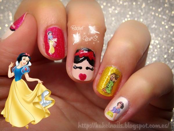 Blancanieves-nail-art