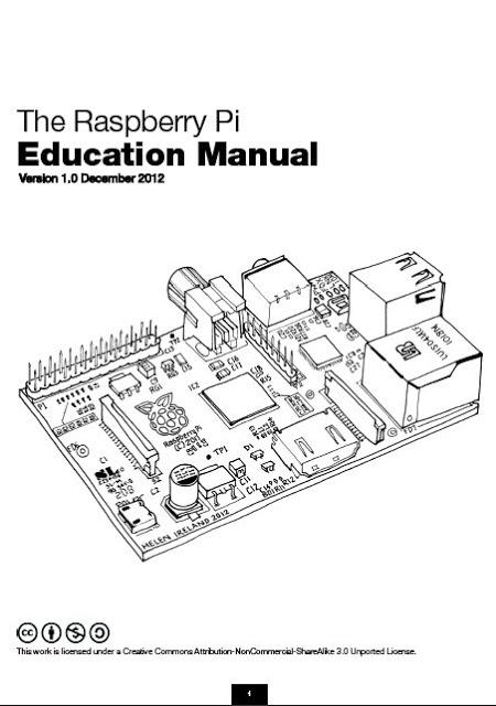 Raspberry Pi education Manual pdf download