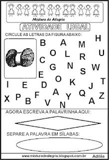 Atividade legal de alfabetização N