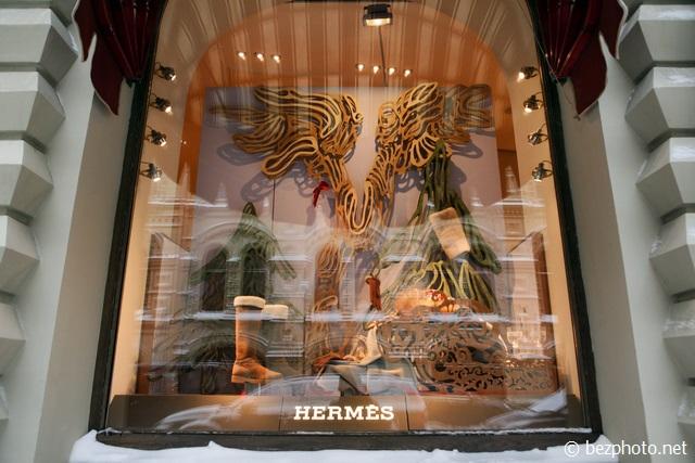 новогодние оформление витрин магазинов фото
