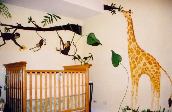dormitorio bebé tema jungla