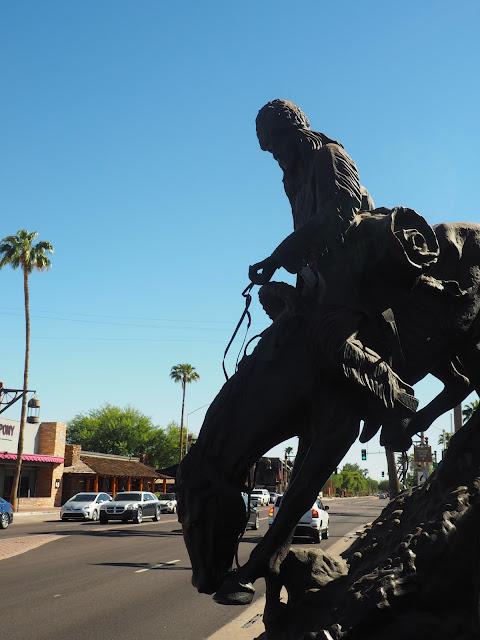 Horse statue in Scottsdale, Arizona