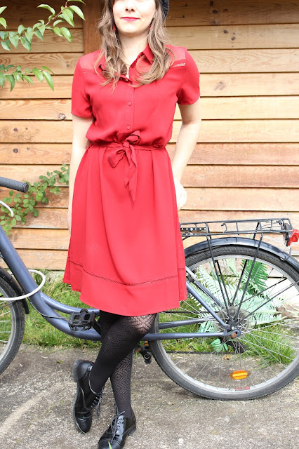 Red woman dress