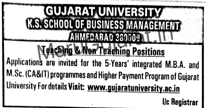 K.S.School of Business Management (GU) Recruitment for