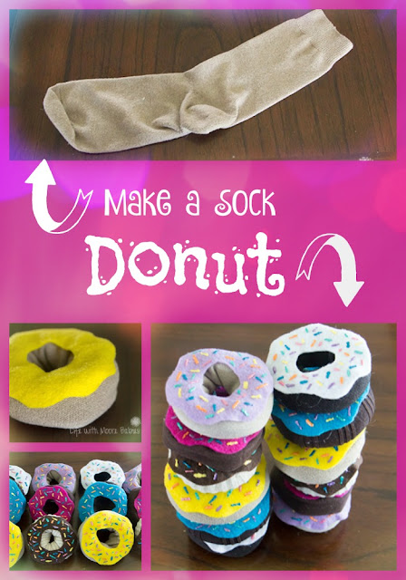 Pretend Donuts made from Socks in a Hurry
