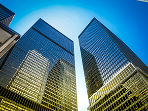 Office buildings in Toronto