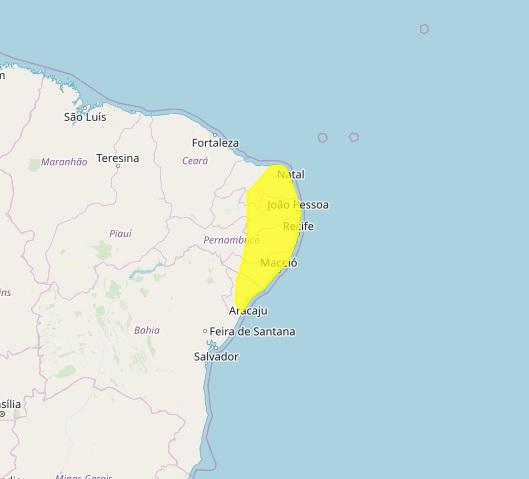 ALERTA: Paraíba tem 145 cidades sob alerta para chuva forte; veja locais.
