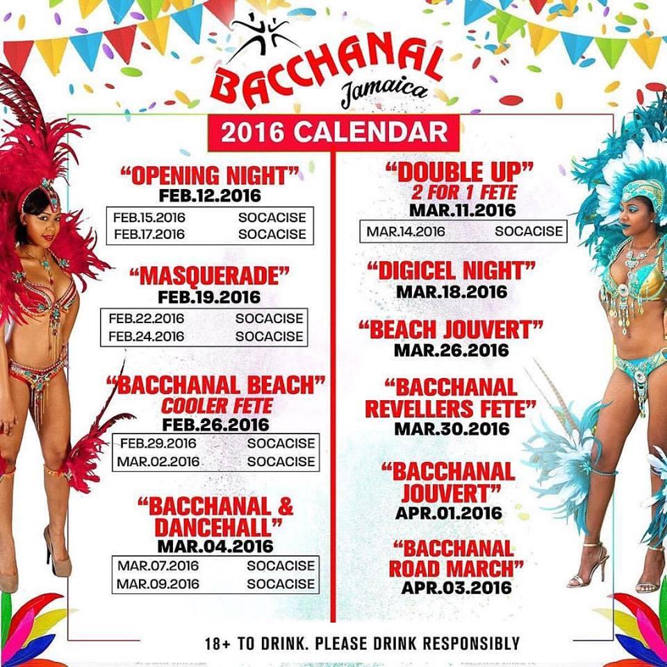 Calendar Jamaica : Bacchanal jamaica calendar of events sokah soca