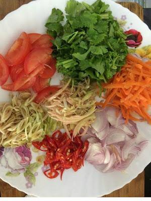 resepi kerabu , resepi kerabu sotong , resepi kerabu sotong ala thai , resepi aneka jenis kerabu,kerabu sotong sedap